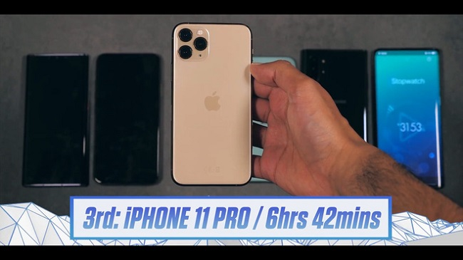 So sánh thời lượng pin của Iphone 11 Pro Max vs Galaxy Note 10 Plus