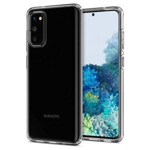 Ốp lưng Spigen Samsung S20 Liquid Crystal trong suốt chính hãng cao cấp giá rẻ hà nội tphcm